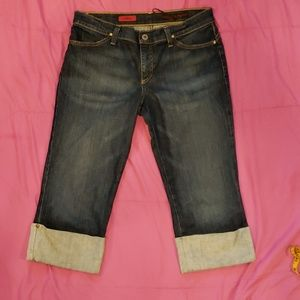 NWOT AG cropped shorty jeans